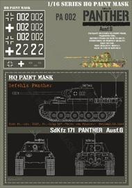 HQ-Masks  1/16 Befehls Panther G Stab Pz.Abt.2107 Pz.Brig.107/major von Pluskow/ Holland 10.1944 Paint Mask HQ-PA16002