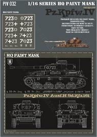HQ-Masks  1/16 Pz.Kpfw.IV Ausf.H 9.SS-Pz.Rgt. 9.SS Pz.Div. 'Hogenstaufen Falaise France 1944 Paint Mask HQ-PZIV16032