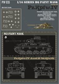 HQ-Masks  1/16 Pz.Kpfw.IV Ausf.H 7.Komp. II.Batt. 3 SS-Pz.Rgt. 3 SS-Pz.Div Totenkopft Warsaw 1944 Paint Mask HQ-PZIV16033