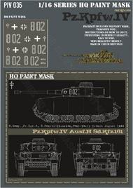 HQ-Masks  1/16 Pz.Kpfw.IV Ausf.H 8.Komp. Pz.Rgt.3 2 Pz.Div. Pont-Farcy France Aug.1944 Paint Mask HQ-PZIV16035