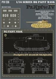HQ-Masks  1/16 Pz.Kpfw.IV Ausf.H 8.Komp. II Batt. 29th Pz.Rgt. 12th Pz.Div. Bialystok July 1944 Paint Mask HQ-PZIV16036