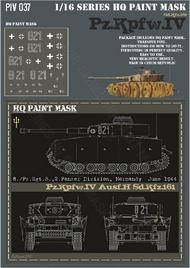 HQ-Masks  1/16 Pz.Kpfw.IV Ausf.H 8./Pz.Rgt. 3 2.Pz.Div. Normandy June 1944 Paint Mask HQ-PZIV16037