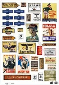 HQ-Masks  1/16 A4 ,  WWII German Propaganda Stickers HQ-STI16001