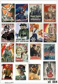 HQ-Masks  1/16 A4 ,  WWII German Propaganda Stickers HQ-STI16004