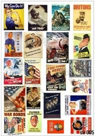 HQ-Masks  1/16 A4 ,  WWII German Propaganda Stickers HQ-STI16005