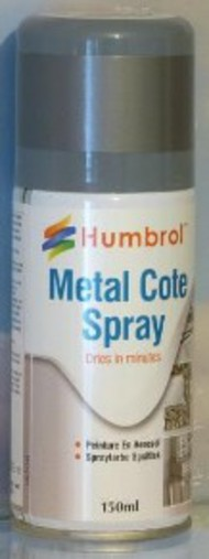 Humbrol  Humbrol Acrylic Spray 150ml Acrylic Metalcote Polished Aluminum Spray HMB6995