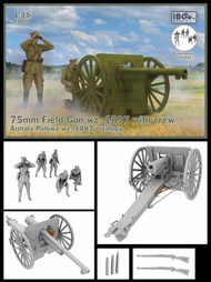 75mm Field Gun wz. 1897 with Polish Artillerymen figures #IBG35059