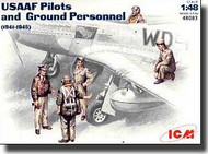 ICM Models  1/48 USAAF Pilots and Ground Personnel 1941/1945 ICM48083