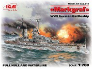 ICM Models  1/700 WWI German Markgraf Battleship ICM17