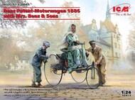 1886 Benz Patent Motorwagen w/Mrs. Benz & 2 Sons (New Tool) #ICM24041