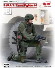 ICM Models  1/24 SWAT Team Fighter #4 w/Hand Gun (AUG) ICM24104