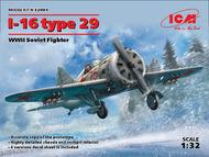 Polikarpov I-16 type 29 WWII Soviet Fighter #ICM32003