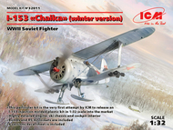 WWII Soviet I-153 Chaika Biplane w/Skis Fighter (Winter Version) #ICM32011
