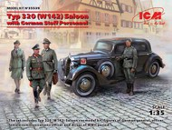 Typ 320 (W142) Saloon, WWII German Staff Car with German Staff personnel ICM35539