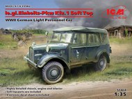 WWII German le.gl.Einheitz PkwKfz 1 Light Personnel Car w/Soft Top #ICM35582