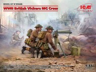 WWII British Vickers MG Crew (Vickers MG & 2 figures) (100% new molds) NEW - IV quarter - Pre-Order Item #ICM35646