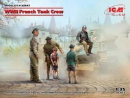 WWII French Tank Crew (4 figures) (100% new molds) NEW - IV quarter - Pre-Order Item #ICM35647