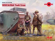 WWI British Tank Crew (4) (New Tool) #ICM35708