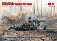 WWI British Vickers MG Crew (Vickers MG & 2 figures) (100% new molds) #ICM35713