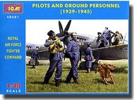 ICM Models  1/48 WW2 Pilots & Ground Personel RAF ICM48081