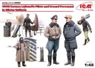 ICM Models  1/48  WWII German Luftwaffe Pilots & Ground Personnel Winter Uniforms (5) ICM48086