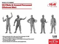 US Pilots & Ground Personnel (Vietnam War) (5 figures) (100% new molds) NEW - II quarter #ICM48087