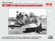 Messerschmitt Bf.109F-4 with German Ground Personnel (this kit was released in January 2020) #ICM48805