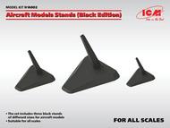 Aircraft black Models Stands (1:48, 1:72, 1:144) #ICMA002
