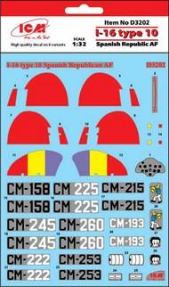 Polikarpov I-16 type 10 Spanish Republic AF #ICMD32002