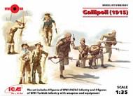 Gallipoli (1915) (ANZAC Infantry (4 figures), Turkish Infantry (4 figures) Diorama #ICMDS3501