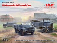 Wehrmacht Off-road Cars (Kfz.1, Horch 108 Typ 40, L1500A) Diorama Set #ICMDS3503