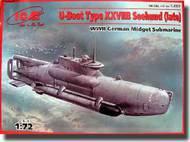 ICM Models  1/72 U-Boat Type XXVIIB Seehund (Late) WWII German Midget Submarine ICMS007