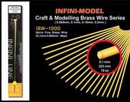 Micro Fine Brass Wire (0.1mmx265mm) 18pcs #INFIBW1000
