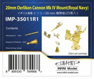 Infini Models  1/350 20mm Oerlikon Cannon Mk IV Mount - Royal Navy INFIMP35011R1