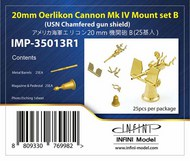 Infini Models  1/350 20mm Oerlikon Cannon Mk IV Mount Set B (USN Chamfered Gun Shield) INFIMP35013R1