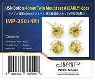 Infini Models  1/350 US Navy Bofors 40mm Twin Mount Set A (Early) INFIMP35014R1