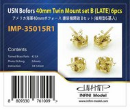 Infini Models  1/350 US Navy Bofors 40mm Twin Mount Set B (Late) INFIMP35015R1
