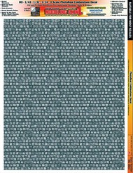 INNOVATIVE HOBBY SUPPLY   N/A Multi-Scale Modeling SkinZ PhotoReal Peel & Stick Decals: Cobblestone 1 (Large) IHS3803