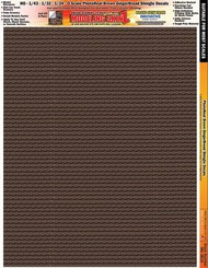 INNOVATIVE HOBBY SUPPLY   N/A Multi-Scale Modeling SkinZ PhotoReal Peel & Stick Decals: Brown Gingerbread Shingles IHS3819