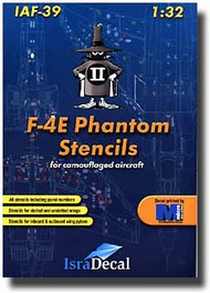 Israeli Air Force F-4E Phantom Stencils (4 sheets) #ISD0039