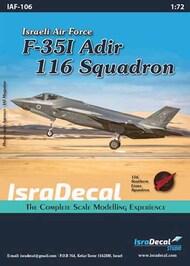 IAF Lockheed-Martin F-35I 'Adir' 116 Sq #IAF106
