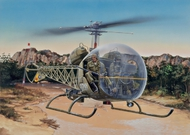 Italeri  1/48 OH13S Sioux Helicopter ITA857