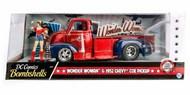 Jada Models  1/24 1952 Chevy COE Pickup Truck w/Wonder Woman Figure JAD30453