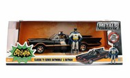 Jada Models  1/24 1966 Classic TV Series Batmobile w/Batman Figure JAD98259
