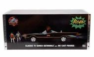 1966 Classic TV Series Batmobile (Lighted) w/Batman & Robin Figures JAD98625