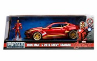 Jada Models  1/24 2016 Chevy Camaro Car w/Ironman Figure JAD99724