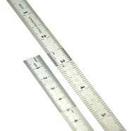 Janes Tools   Ruler 6 Inch Stainless Steel Ruler - SAE & Metric JATPP60