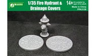 Fire Hydrant & 2 Drainage Covers (Assembled Resin) #JWM3138