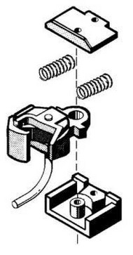 KADEE  G Coupler Body Mount w/Short Narrow Gear Box (D)<!-- _Disc_ --> KAD835
