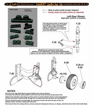 Landing Gear Set - Spitfire Mk.VIII/IX/XVI Front Facing Torque Links (EDU kit) #KLG4807EDU